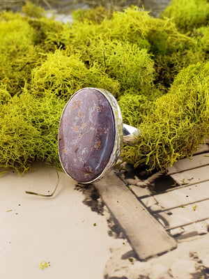 Ocean Jasper Gemstone Sterling Silver Ring Jewelry