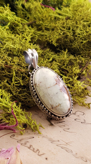 Lemon Chrysoprase Gemstone Sterling Silver Pendant Jewelry