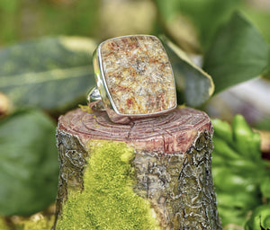 Included Phantom Quartz Lodolite Gemstone Sterling Silver Ring Jewelry