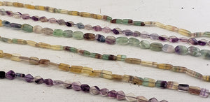 Fluorite Gemstone Polished Bead Strands