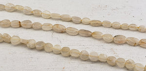 Gold Rutiled Quartz Polished Gemstone Bead Strands