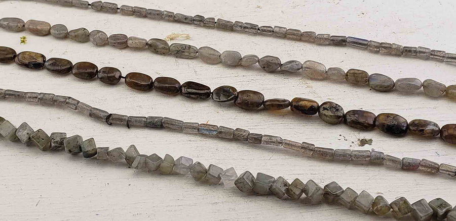Labradorite Gemstone Polished Bead Strands
