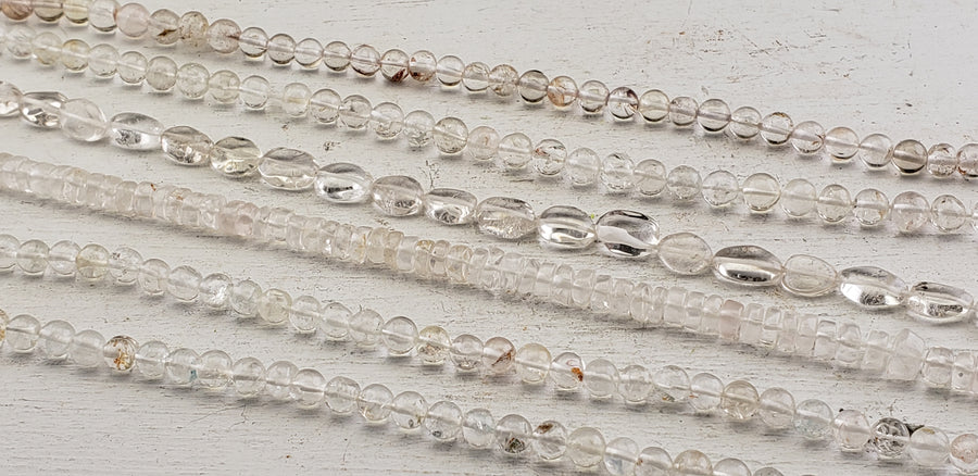 Quartz Polished Gemstone Bead Strands