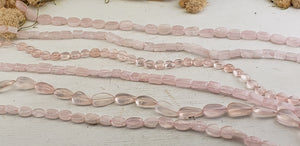 Rose Quartz Gemstone polished Bead Strands