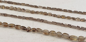 Smoky Quartz Polished Gemstone Bead Strands