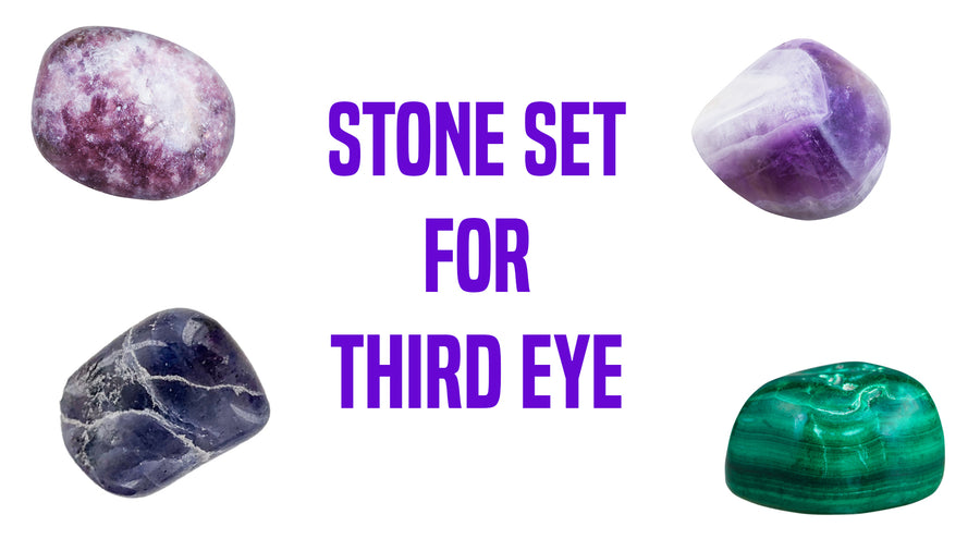 Third Eye Work Gemstone Pocket Stone Set