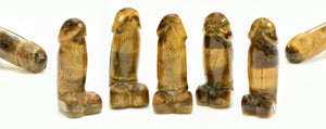 Tiger Eye Polished Phallus - Small Gemstone Carvings