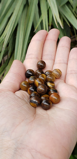 Tiger Eye Natural Gemstone 10mm Sphere Orb Marble