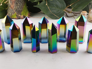 Titanium Aura Quartz Tower Obelisk Stone Obelisks & Towers