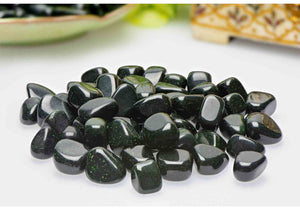 Green Goldstone Tumbled Gemstone - Stone For Emotions Fantasy & Mind Gemstones