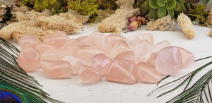 Pink Girasol Quartz Polished Tumbled Gemstone