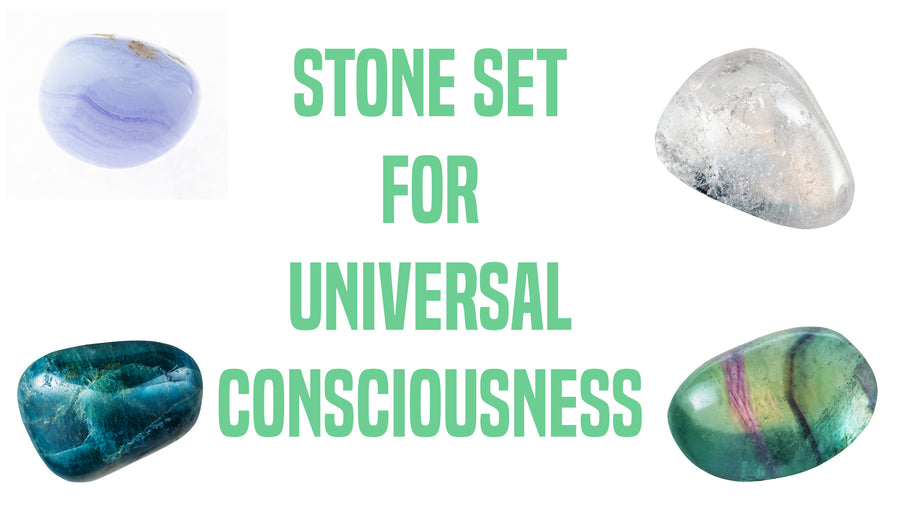 Universal Consciousness Gemstone Pocket Stone Set