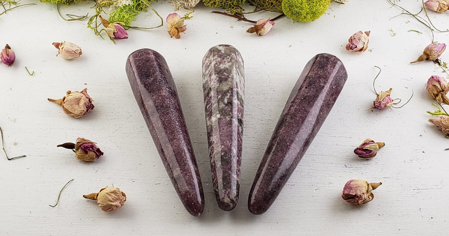 Lepidolite Gemstone Wand Wands Massagers