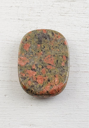 Gemstone Worry Palm Meditation Stone - With Thumbprint Indentation