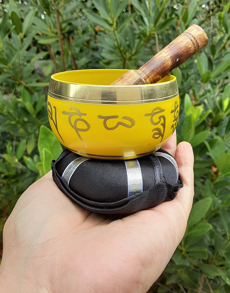 Yellow Tibetan Singing Bowl 3""