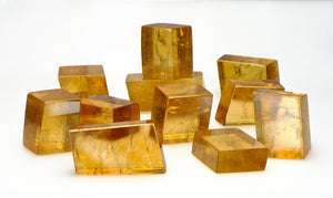 Honey Yellow Gold Calcite Natural Gemstone Cluster Stones