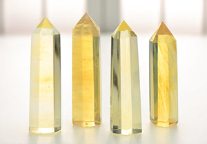 Yellow Obsidian Gemstone Polished Tower Stone Obelisks & Towers