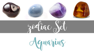 Zodiac Aquarius Gemstone Pocket Stone Set