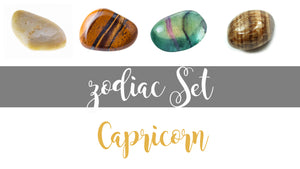 Zodiac Capricorn Gemstone Pocket Stone Set