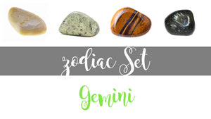 Zodiac Gemini Gemstone Pocket Stone Set