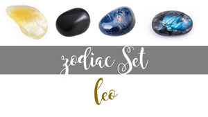 Zodiac Leo Gemstone Pocket Stone Set