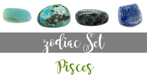 Zodiac Pisces Gemstone Pocket Stone Set
