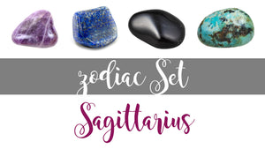 Zodiac Sagittarius Gemstone Pocket Stone Set
