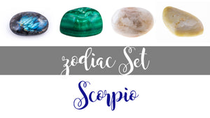 Zodiac Scorpio Gemstone Pocket Stone Set