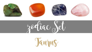 Zodiac Taurus Gemstone Pocket Stone Set