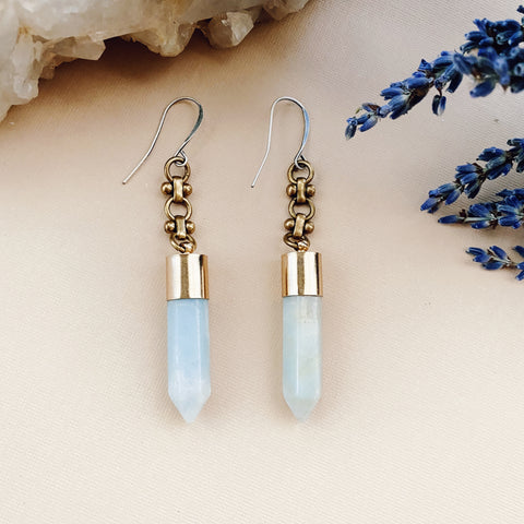 Amazonite Point Earrings