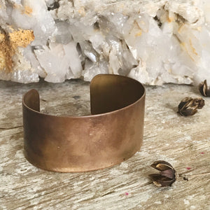 Antiqued Brass Cuff