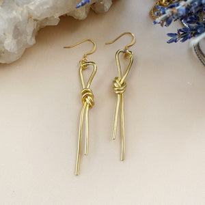Knotted Brass Earrings