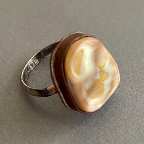 Mother of Pearl Ring, size 7