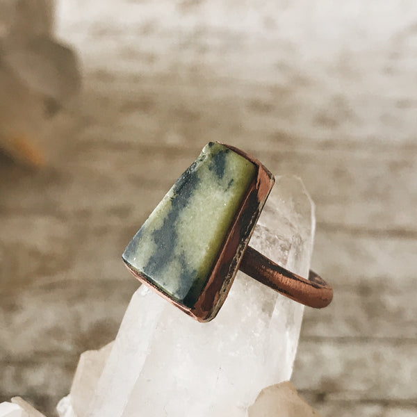 Copper Serpentine Ring, size 6.5