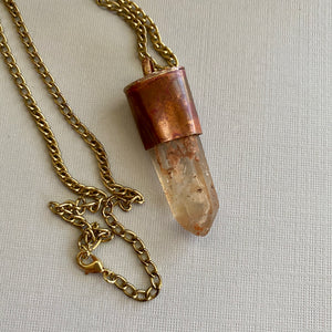 Raw Quartz Tower Necklace
