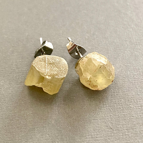 Yellow Apatite Stud Earrings