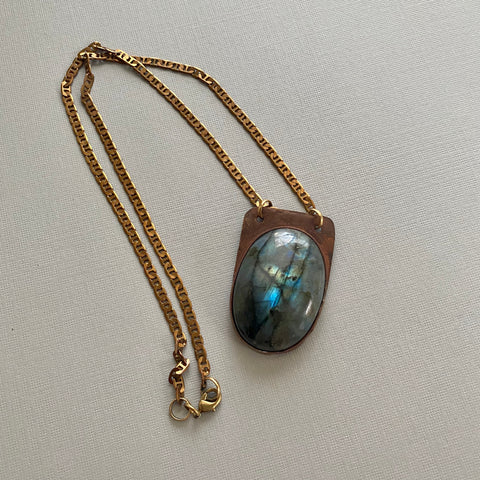 Labradorite Oval Necklace