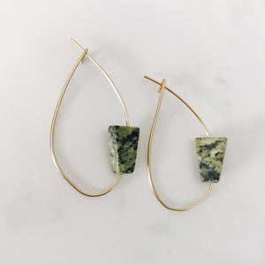Serpentine Triangle Asymmetrical Hoops