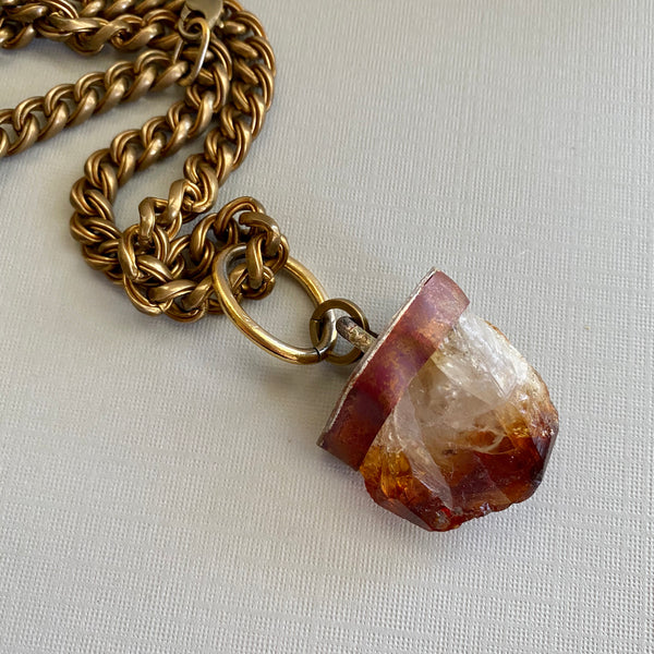 Citrine Mountain Necklace