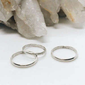 Sterling Silver Midi Ring Set of 3