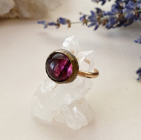 Violet Glass Ring