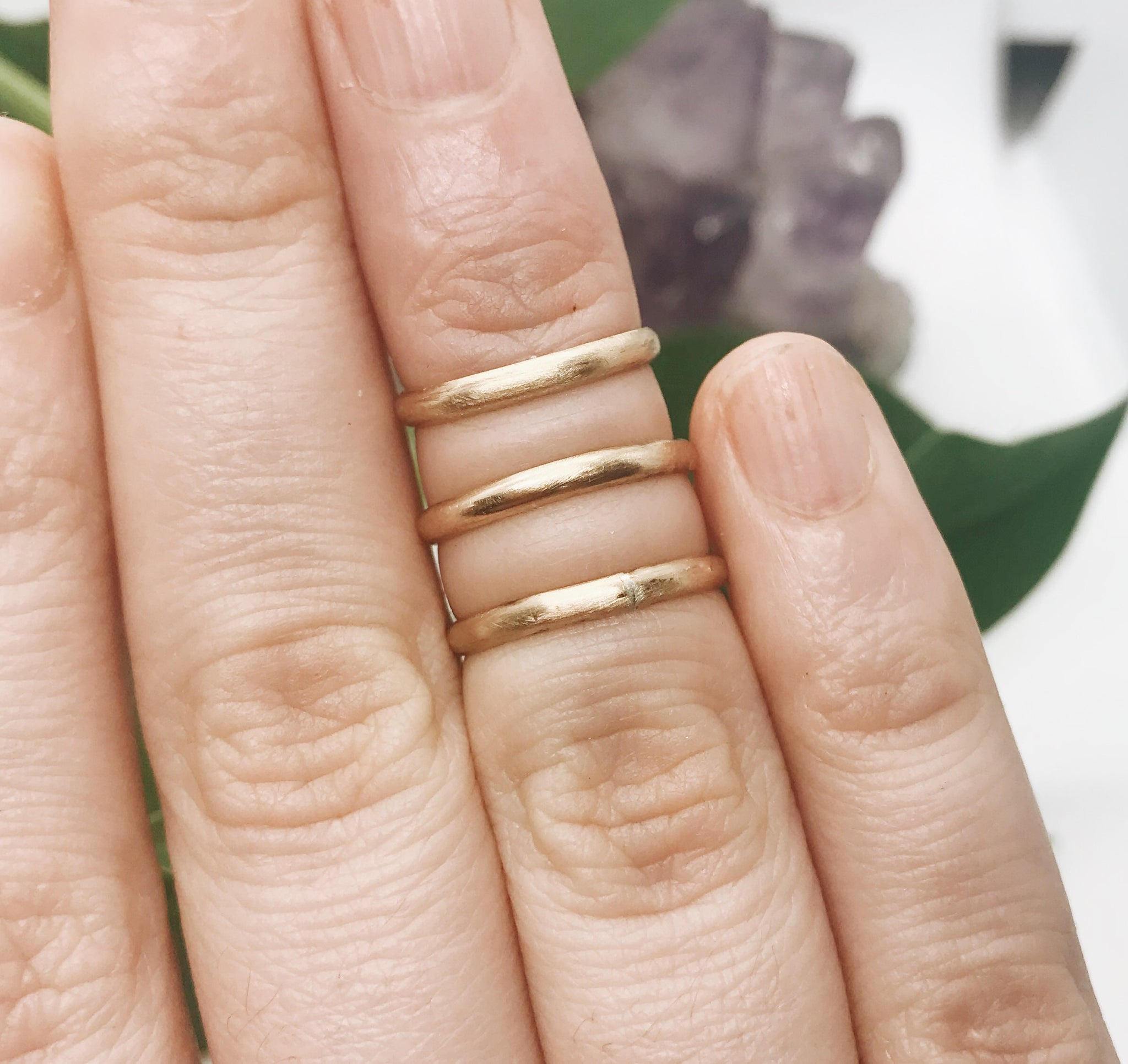 Gold Midi Ring Set of 3