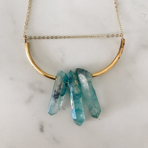 Aura Necklace, Blue