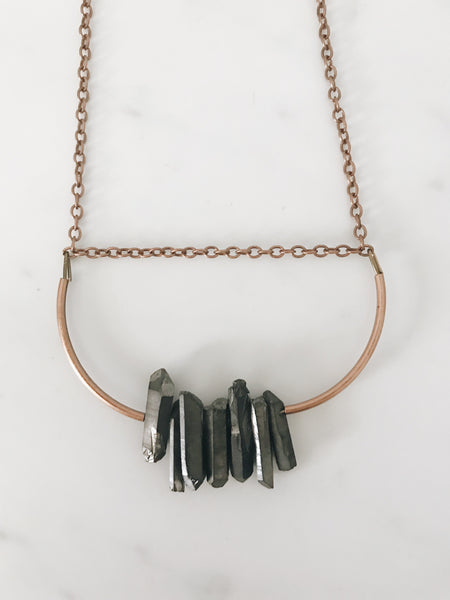 Aura Necklace, Dark Gray
