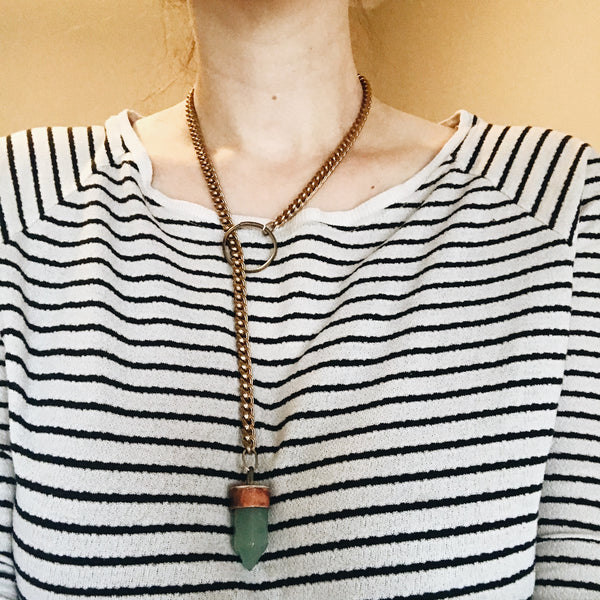 Green Adventurine Lariat Necklace