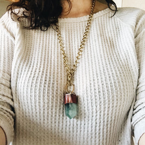 Green Fluorite Tower Necklace