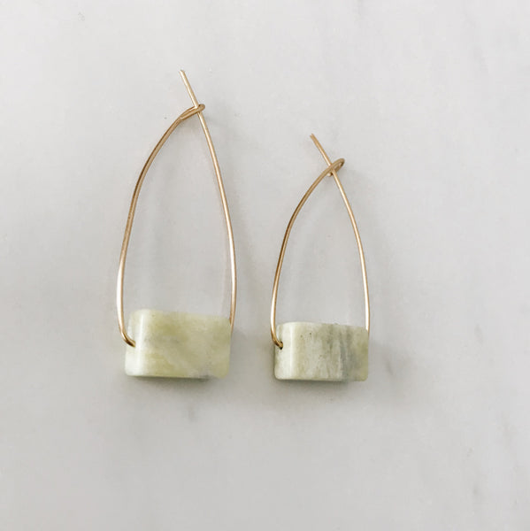 Serpentine Brass Hoops