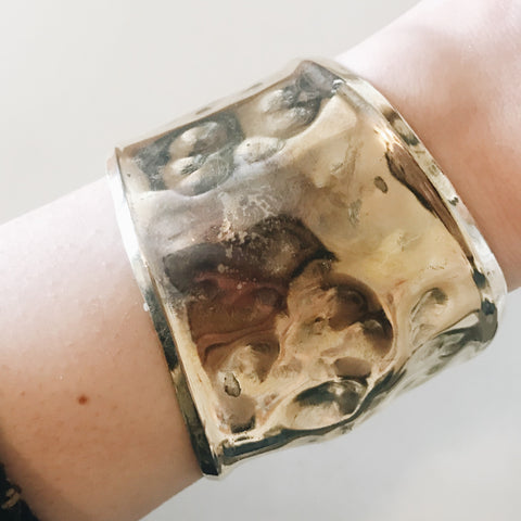 Asymmetrical Hammered Cuff