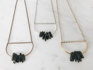 Alexandra Necklace, Dark Gray