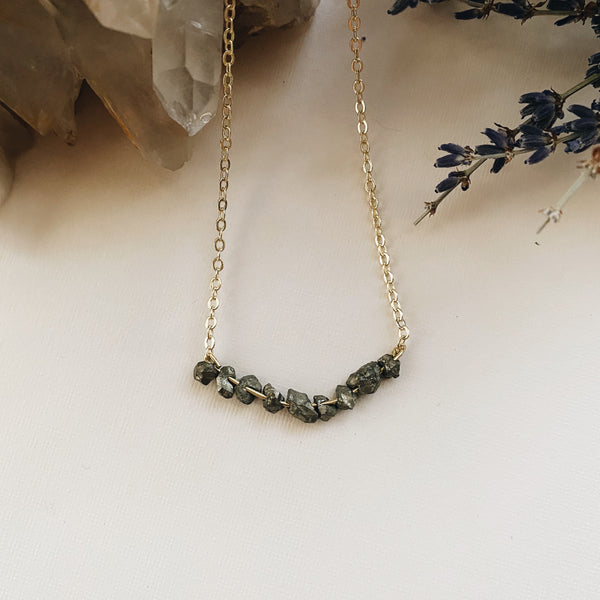 Pyrite Bead Necklace